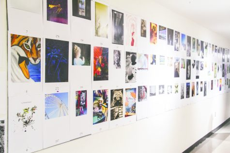 Entries line the halls of the VCT building during the Spindrift Jury Show.