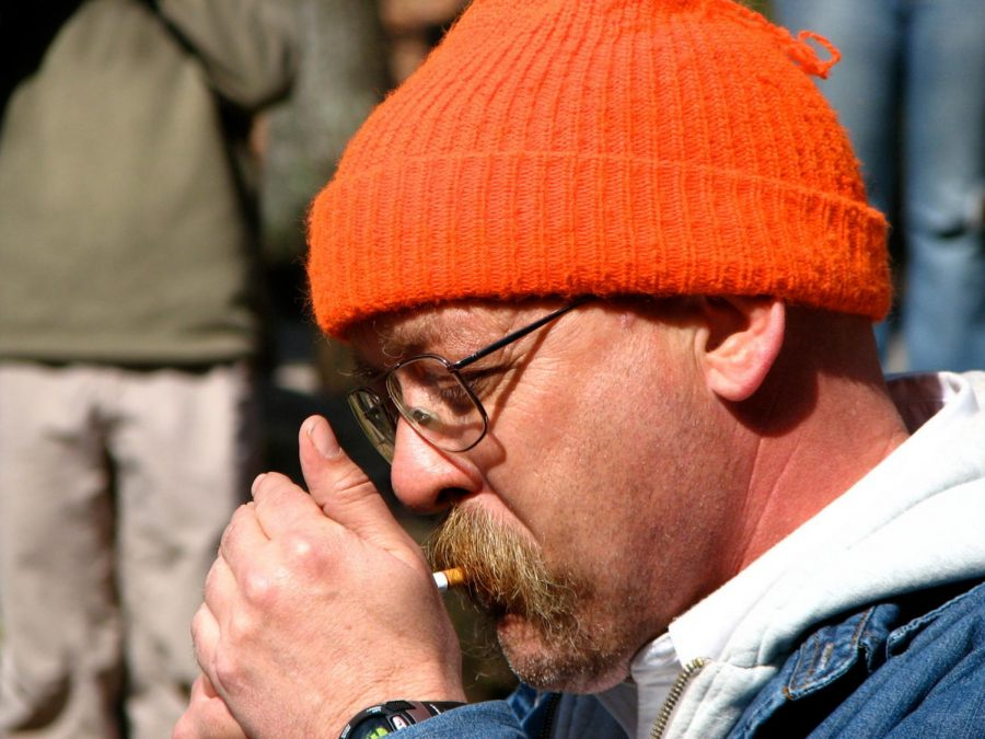 "Gary ""Lazarus Lake"" Cantrell lights the starting cigarette to begin the Barkley Marathons."