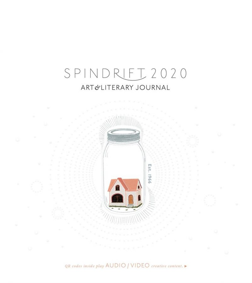 Spindrift's cover was designed by incoming Ebbtide Visual Director Erin Krogh.