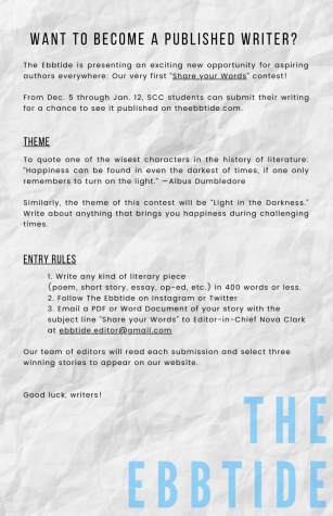 Share Your Words: Win a Chance to be Published in The Ebbtide!