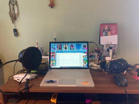 Jacob Mina's home office setup.
