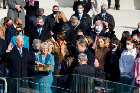 Joe Biden was administered his presidential oath by Supreme Court Chief Justice John Roberts.
