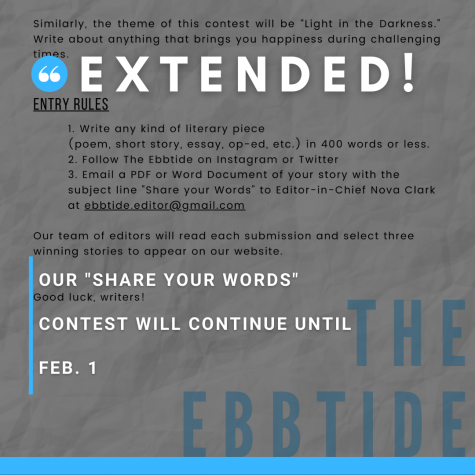EXTENDED: Share Your Words until Feb. 1!