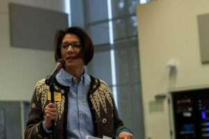 SCC President Cheryl Roberts speaks at a Dec. 5 budget meeting.