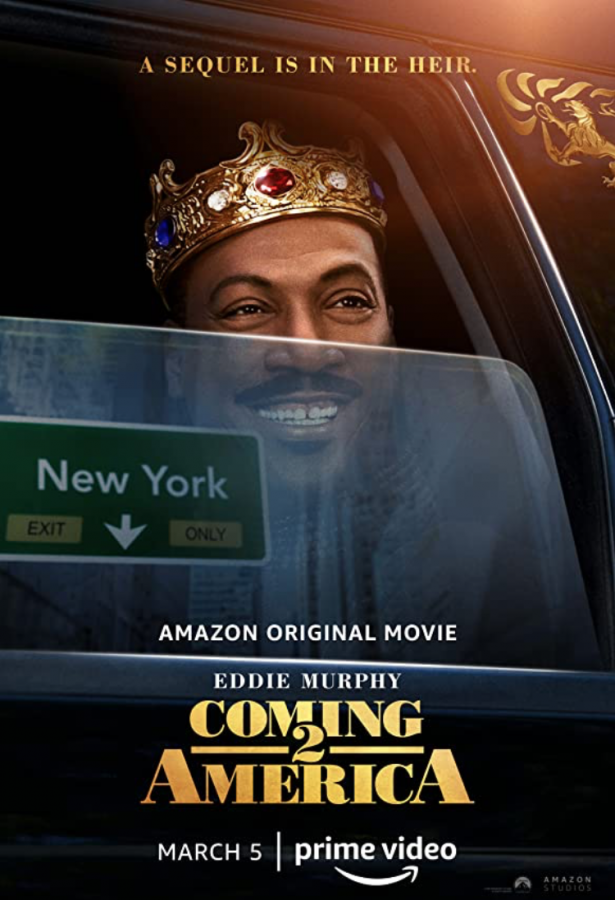 """Coming 2 America"" calls upon Eddie Murphy's earlier work and comments on current pop culture."